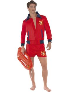 Baywatch Lifeguard Inflatable Red Float 80s Beach Fancy Dress Accessory New