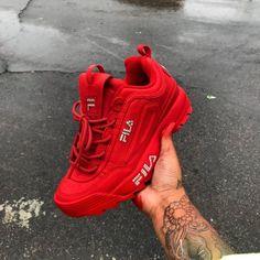 the latest 9a38a ab4c5 ʍɛʟaռɨռ.ɮaʀɮɨɛ🦄🌈✨ Sneaker Boots, Custom Shoes, Red Fila Shoes,