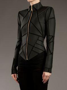 454b6cc84fc Gareth Pugh - Geometric Panelled Leather Jacket