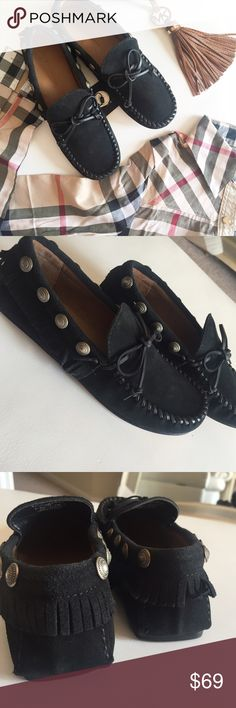 Zara leather fringe moccasin New with tags - EUR SIZE 37 Zara Shoes Moccasins