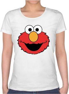 Elmo Suratı Kendin Tasarla - Bayan U Yaka Tişört