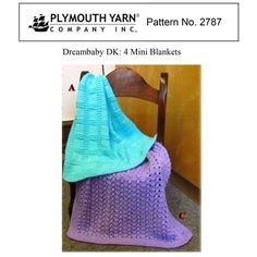 4 Mini Blankets in Plymouth Yarn Dreambaby DK - 2787 - Downloadable PDF. Discover more patterns by Plymouth Yarn at LoveKnitting. We stock patterns, yarn, needles and books from all of your favourite brands.