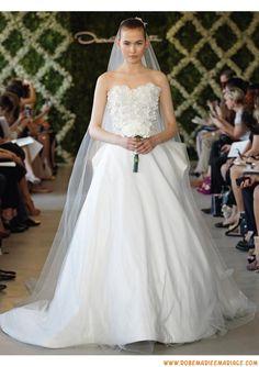 Robe de mariage princesse blanche 2013 princesse appliques satin organza