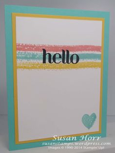 Susan's CAS card: Work Of Art and Four You. All supplies from Stampin' Up!