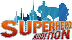 Superhero Audition Cards