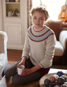 fair Iisle sweater, Boden, jumper, winter knit, hairstyle, fashion, knitted tights, style