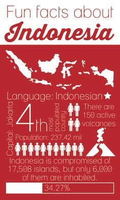 Did you know that Indonesia is the 4th most populated country in the world?? We certainly didn't!!! Read more fun facts here, and learn more about what we do there at www.marietterra.com #pinoftheweek #indonesia #funfacts