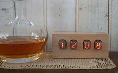 Hardwood Nixie Tube Clock by Tungsten Customs | Hatch.co