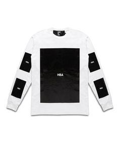 HBA WHITE BLOCK LONG SLEEVE TSHIRT-SS14HBA7 - SneakerBoy