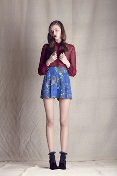 Russian Romance Blouse & Exotic Wilderess Shorts