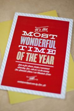 most wonderful time of the year invite