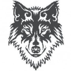 wolf Native Beading Patterns, Bead Loom Patterns, Perler Patterns, Cross Stitch Charts, Cross Stitch Patterns, Cross Stitching, Cross Stitch Embroidery, Pixel Art, 8bit Art
