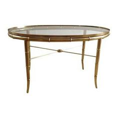 Mastercraft Oval Faux Bamboo Cocktail Table