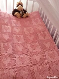 902476cd3ffc Free Pattern  Heart Baby Blanket. Like the heart and star one I made ...