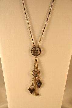 Steampunk Key To Heart Necklace