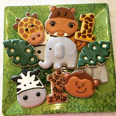 Safari Theme Birthday, Baby Boy 1st Birthday Party, First Birthday Party Themes, Safari Birthday Party, Animal Birthday, Birthday Ideas, Baby Shower, Jungle Party Decorations, Birthdays
