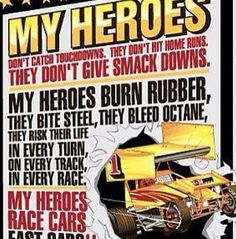 Who are your heroes in racing?