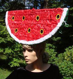 Work it, GirlFriend!!! with Watermelon Headpiece Fruit Hat by @PiperArt on Etsy, $19.00