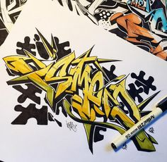 Amazing Sketches 3D Wildstyle Graffiti Alphabet Letter #Graffiti #Letter…
