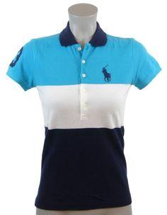 Ralph Lauren Sport Womens 3-Color Big Pony Polo Shirt (bestseller)