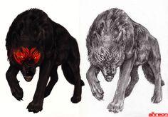 Black Wolf by akreon.deviantart.com on @DeviantArt