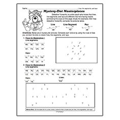 Printables Line Segment Worksheets lines line segments and rays i love the ojays website mystery dot masterpieces draw points angles