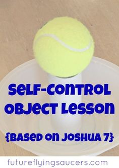 Use the dramatic story of Ai and Achan, along with a jar, bowl, toilet paper roll, and a tennis ball, to teach a fun self-control object lesson! {Growing in Godliness Series} ~ futureflyingsaucers.com