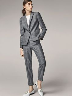 61b2d0ca381 Spring Summer 2017 Women´s SLIM FIT CHECKED WOOL SUIT BLAZER at Massimo  Dutti for