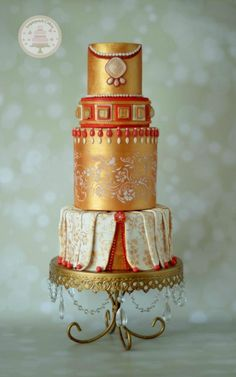 Morroccan Wedding by Sugarpatch Cakes - http://cakesdecor.com/cakes/267520-morroccan-wedding