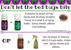 Oil and Tell: Bed Bugs www. Young Living Oils, Young Living Essential Oils, Home Remedies, Natural Remedies, Bed Bug Spray, Young Living Distributor, Bed Bugs, Essential Oil Uses, Spray Bottle