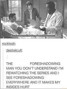 FORESHADOWING IS SO WELL DONE IN SPN