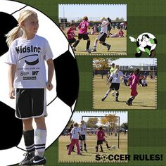 soccer Use as part of two page layout with the soccer balls at center of layout.