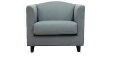 Florianopolis Single Seater Sofa in Stone Grey Colour by CasaCraft