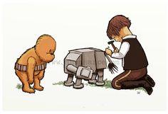 Chewbacca as Winnie the Pooh