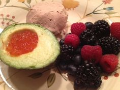 Foie Gras, Avocado with Salmon Roe, and Berries:1/10/13