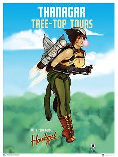 DC Bombshells Hawkgirl Art Print