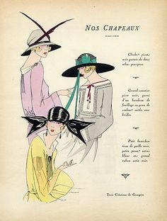 Types Of Hats For Women | 1920s pictures of hat hair ...