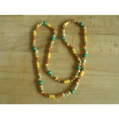 Green, Brown & Tan Wooden Bead Necklace Listing in the Necklaces,Fashion/Costume Jewellery,Jewellery & Watches Category on eBid United Kingdom | 151308267