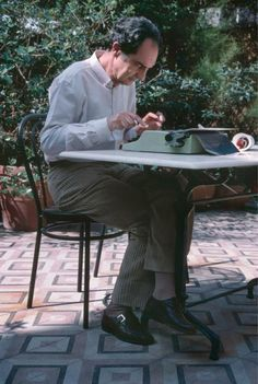 The writer, Italo Calvino. I met him at a dinner party.