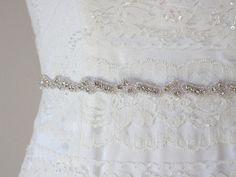 MIA  Lovely Crystal Rhinestone Bridal Sash by HannabellaDesigns