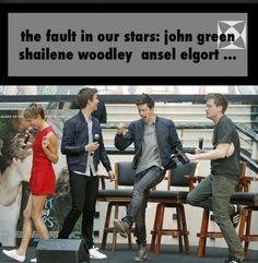 the fault in our stars: john green shailene woodley ansel elgort ...