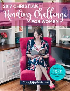 Join the 2017 Christian Reading Challenge for women and set some amazing (but doable) reading goals this year. Download the FREE toolkit for all the book and category suggestions, resources for finding the time to read, and more! https://youngwifesguide.com/2017-christian-reading-challenge-christian-women/