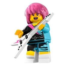 TAKARA TOMY LEGO Minifigures Series 7 Rocker Girl Whatever you may say about the punky, pink-haired Rocker Girl, you cant ever call her humble!
