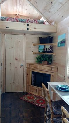A tiny house on wheels in Danville, Georgia. Owned and shared by Denise Ryals.