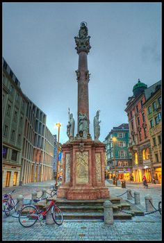 Innsbruck, Austria.    I had my picture taken in front of this monument. It's time to go back.
