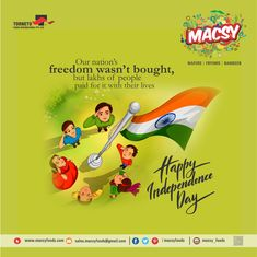 Our nation's freedom wasn't bought, but lakhs of people paid for it with their lives Happy Independence Day.