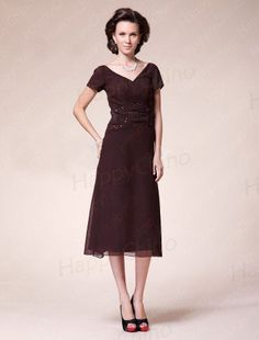 Tea Length Chiffon Mother Of The Bride Dresses