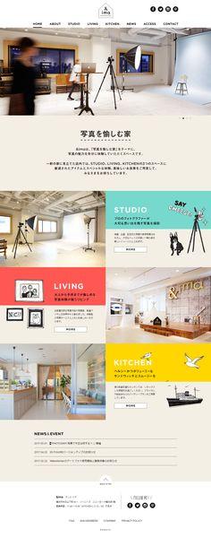 Web Design Examples, Web Ui Design, Site Design, Brochure Design, Web Layout, Layout Design, Ticket Design, Studio Living, Japanese Graphic Design