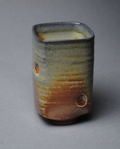 Tumbler Wine Cup Wood Soda Fired K19 by JohnMcCoyPottery on Etsy, $24.00. www.etsy.com/shop/JohnMcCoyPottery