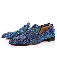 Christian Louboutin Singapore Official Online Boutique - Dandelion strass flat VERSION GREEN Strass available online. Discover more Men Shoes by Christian Louboutin Sparkly Shoes, Prom Shoes, Men's Shoes, Shoe Boots, Dress Shoes, Shoes Men, Louboutin High Heels, Christian Louboutin Heels, Satin Shoes